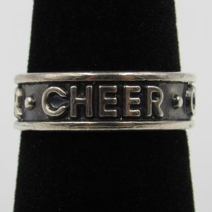 Vintage Size 6 Sterling Silver Rustic Cheer Ring